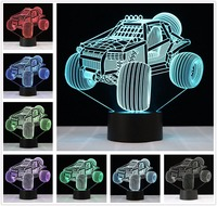 Cool 3D Suv Car Night Lamp Visual Led Night Lights USB 3D Lights Colorful Touch Baby