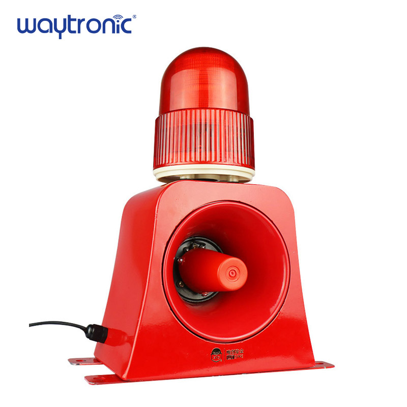 Microwave Sensor Alarm Wireless Industrial Audible and Visual Alarm Device LED Flashing Beacon Light Siren with USB Port 100m wireless remote control storbe siren with led beacon audible alarm annunciator with flashing strobe light page 3