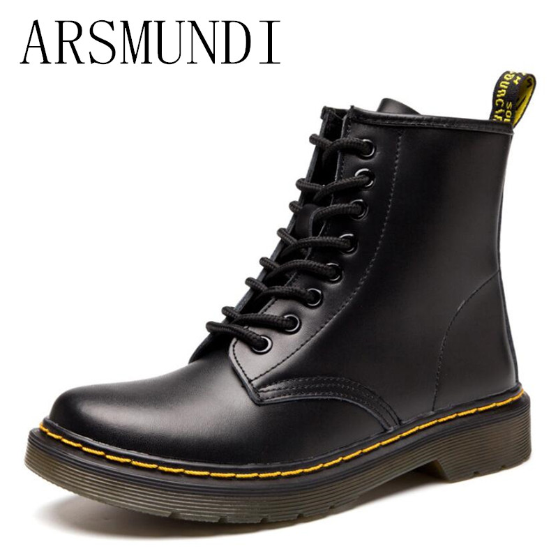 ARSMUNDI 2018 Fashion Autumn And Winter New Comfortable Boots Leather Plus Size 46 Women's Shoes Lovers Boot L176
