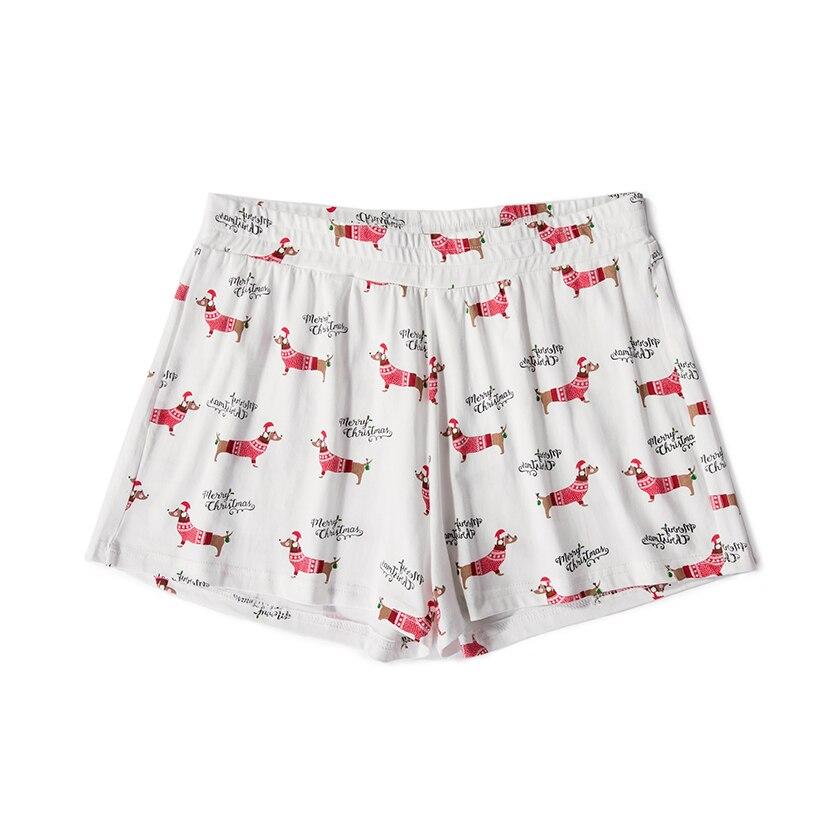 Women's Christmas Dachshund Dog Cartoon Animal Print Shorts Loose Elastic Waist Stretchy Plus Size XXL B79501J 1