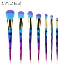 LADES FUKUA Noble Violet 7 PCS Unicorn Brush Makeup Brush Set Nylon Hair Eyebrow Eyeshadow Powder