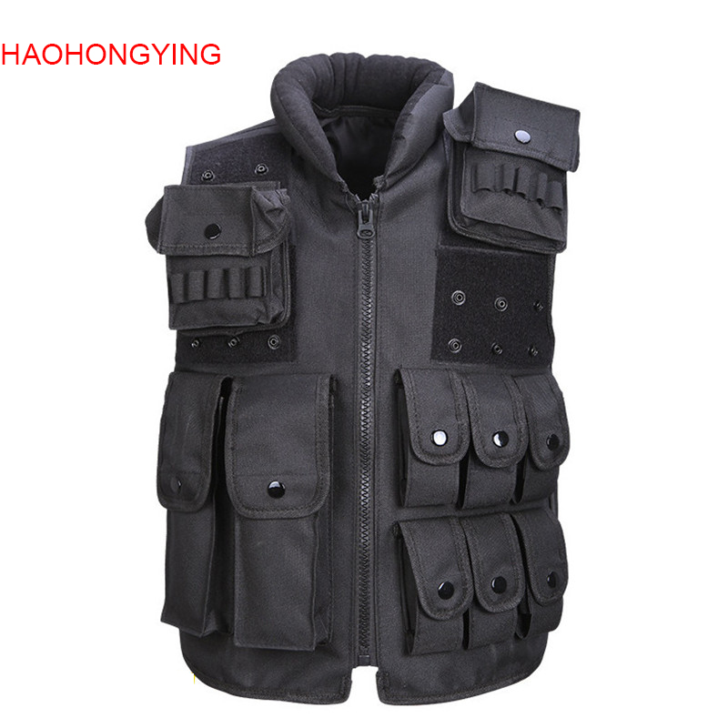 Military Tactical Vest Army Hunting Molle Airsoft Vest Outdoor Body Armor Swat Combat Painball Black Vest for Men S266