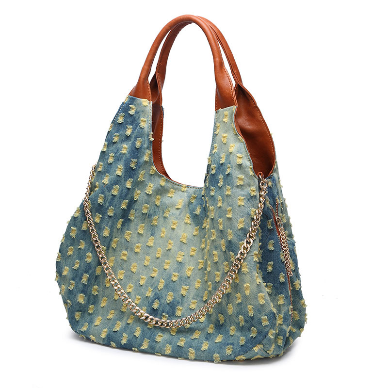 Good Quality 100 New Women Bag Fashion Denim Handbags Unique Tote Bags Bolsas Female Jeans Shoulder In From Luggage On