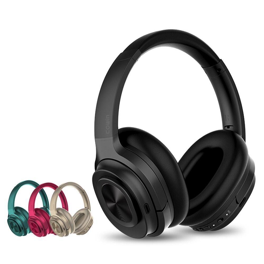 共同受賞 SE7MAX アクティブノイズキャンセリングヘッドホン Bluetooth ワイヤレスヘッドフォン aptx 重低音ヘッドセット 30H 再生とゲーム時間  グループ上の 家電製品 からの Bluetooth イヤホン & ヘッドホン の中 2