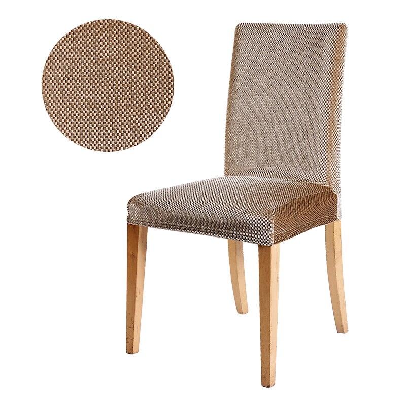 Jacquard chaise couverture extensible siège chaise couvre housse de chaise élastique housse de chaise pour banquet hôtel salle à manger décoration de la maison