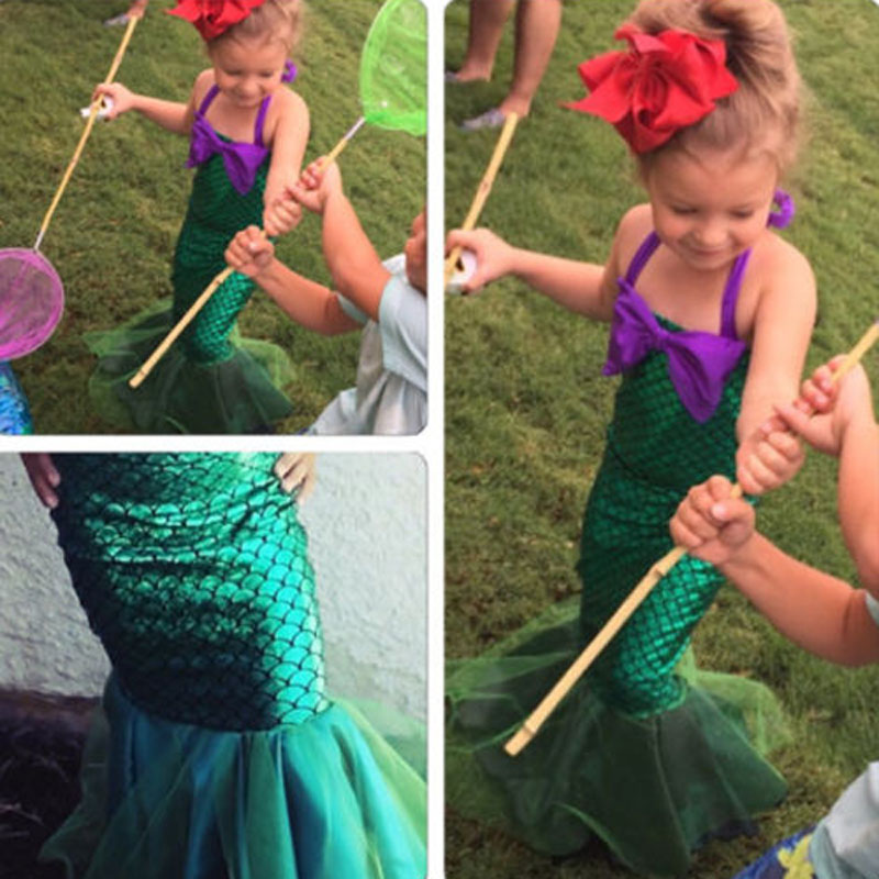 9f4b1ef68 Detail Feedback Questions about Newly Fashion Summer Girls Princess Dresses  Fishtail Kids Ariel Little Mermaid Dress Halloween Party Cosplay Costume on  ...