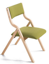 Solid wood folding chairs Jane. Cloth chair mahjong desk chair