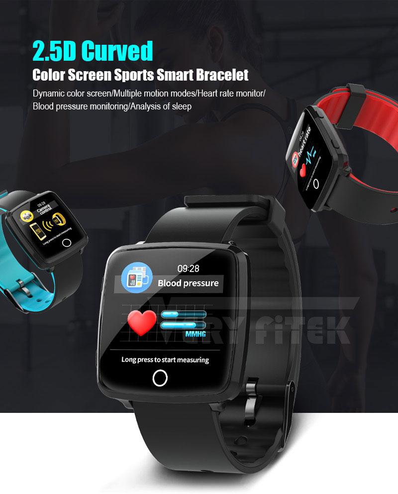 VERYFiTEK Smartwatch Blood Pressure Heart Rate Monitor Men Women Sport Watch Pedometer Stopwatch Smart Watch for IOS Android (1)