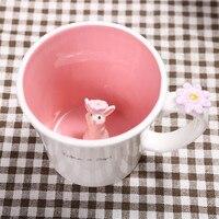 Creative Cartoon ספלי קרמיקה כוס תה 550 ml חמוד בעלי החיים Candy צבע קפה חלב ספלי חידוש מתנות יום הולדת סיטונאי