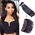 8A 13X4 Ear To Ear Lace Frontal Closure With Bundles Brazilian Straight Virgin Hair With 3 Bundles With Lace Frontal Closure