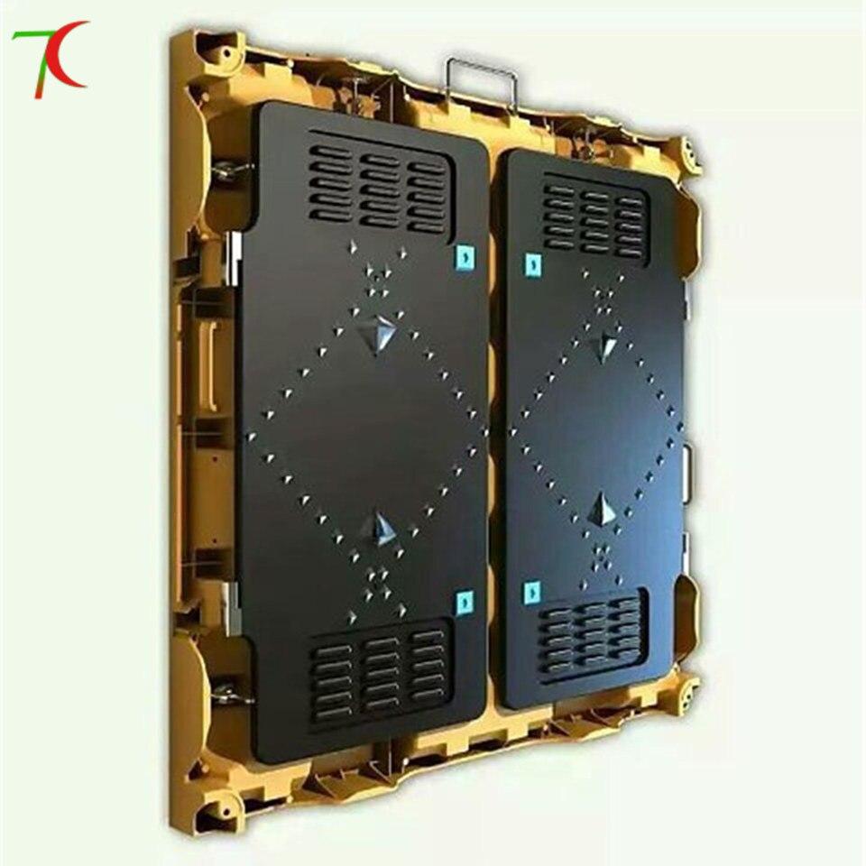 960*960mm P10 4scan indoor die casting aluminium equipment cabinet led screen