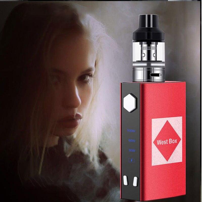 M4 100W Electric Cigarette Kit Mods 1800mah Build-in Battery For 2.5ml Atomizer E Cig Smoke Vape Pen Vaporizer Vs TXW 80W/V6 KIT
