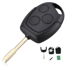 433Hz/315Hz 3 Buttons Replacement Remote Car Key Fob Transmitter Clicker Alarm with Chip 60 for Ford MONDEO Fiesta Focus