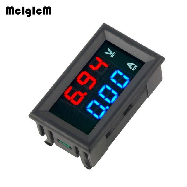 Ledアンプデュアルデジタル電圧計ゲージ 0.28 dc 0 100v 0 10Aデジタル電圧計電流計テスターvoltimetro ledデュアルディスプレイ