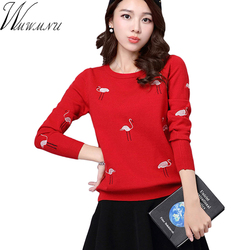 Wmwmnu brand 2017 spring autumn women s sweater slim embroidered knit pullover sweater casual comfortable tops.jpg 250x250