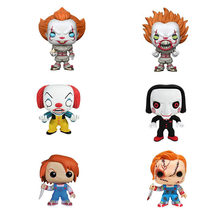 Funko POP Stephen King é Pennywise & CHUCKY collectible PVC action Figure modelo Toy Modelo para o presente das crianças(China)