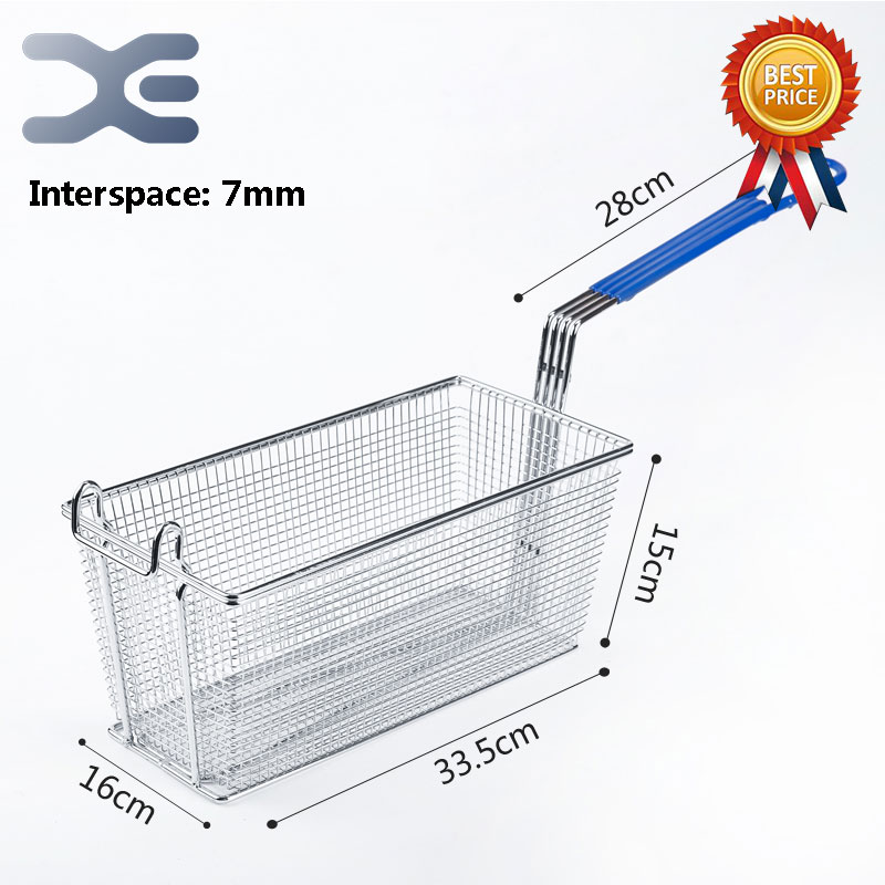 Stainless Steel French Fries Net Fry Fryer 33.5*16*15cm Basket Mesh Basket Strainer Interspace 7mm Electric Deep Fryer PartsStainless Steel French Fries Net Fry Fryer 33.5*16*15cm Basket Mesh Basket Strainer Interspace 7mm Electric Deep Fryer Parts