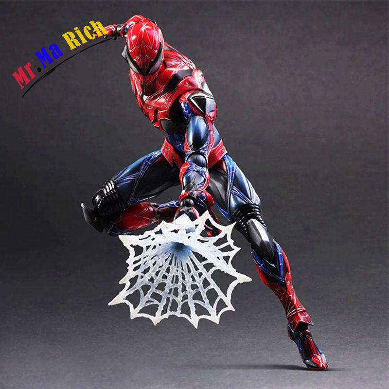 Spider Man PLAY ARTS PA Action Figure Model Doll Toy Statue Display China Ver. halo 5 guardians play arts reform master chief action figure