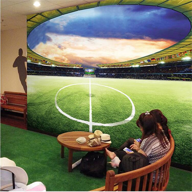 Home Decor Wallpaper For Living Room World Cup Soccer Green Art Wall Painting Photography Background Sofa