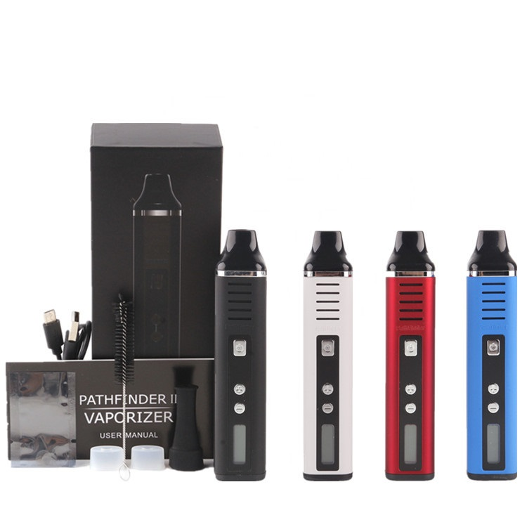 Pathfinder V2 Dry Herb Vaporizer Kit Electronic Cigarette Vapor 2200mAh Temp Control Pathfinder II Herbal Wax Mod Vape Pen Kit