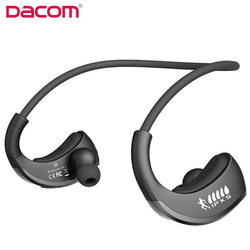 DACOM Armor G06 Bluetooth Headset IPX5 Waterproof Wireless Earphone Sports Running Earpiece with Mic for Smartphone iphone dacom gf7 car kit bluetooth v4 2 earphone with mic charger dock for iphone 7