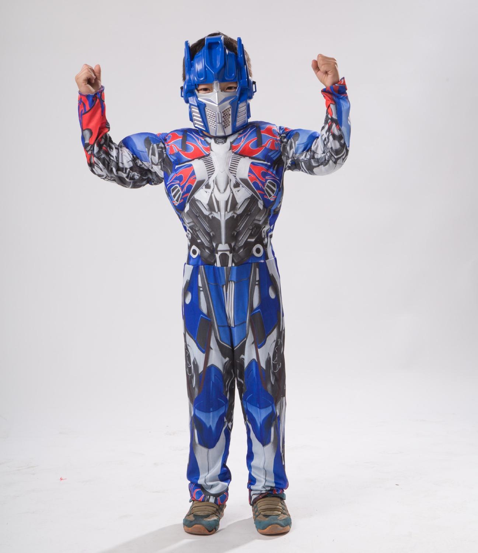 Deluxe Optimuus Pirme Bummlebee muscle cosplay costume children full body suits kids carnival Halloween costumes
