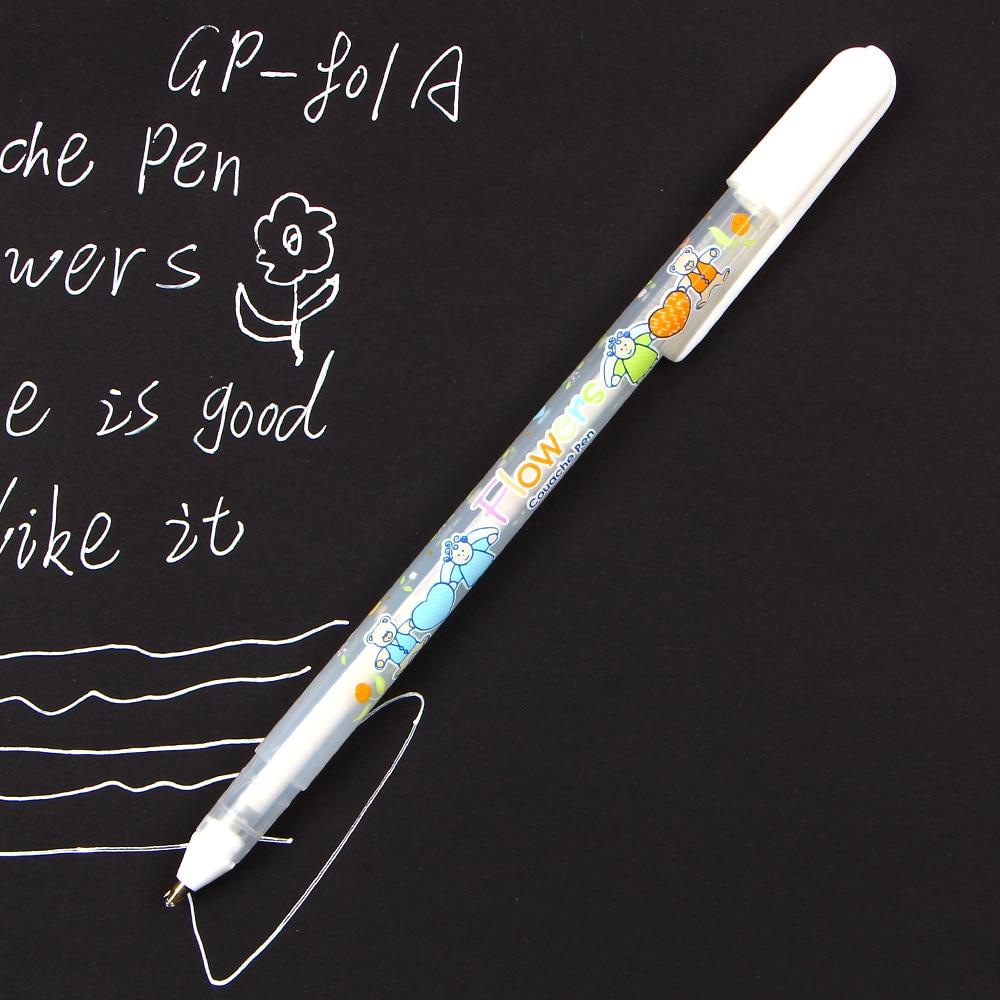 0.8mm Warna Tinta Putih Album Foto Gel Pena Alat Tulis Pejabat - Pen, pensel dan bekalan bertulis - Foto 5