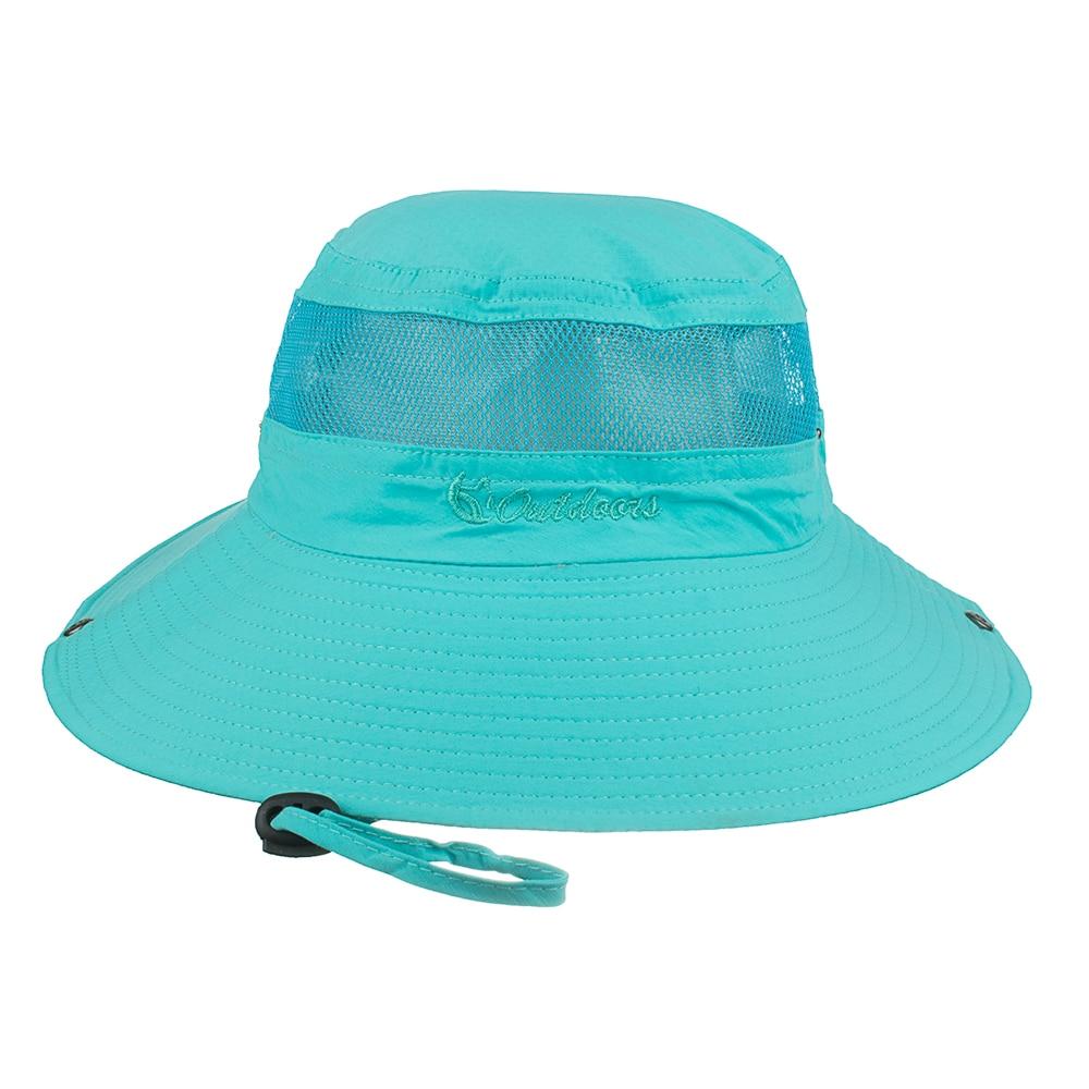 3ce8b12f1bc AKIZON Summer Bucket Hats Fishing Wide Brim Hat UV Protection Cap ...