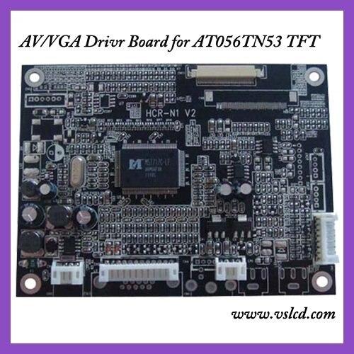 ФОТО VGA+AV signal TFT Driver board of 5.6'' AT056TN53V.1 tft lcd panels VGA driver board