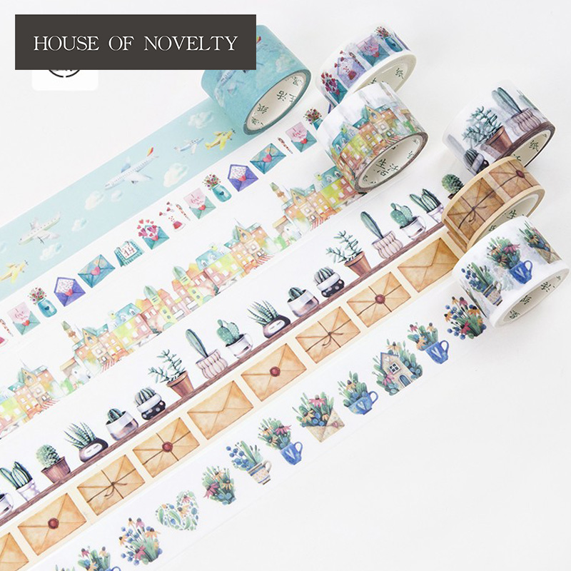 Travel And Life Washi Tape Adhesive Tape DIY Scrapbooking Sticker Label Masking Craft Tape shading color washi tape adhesive tape diy scrapbooking sticker label masking tape