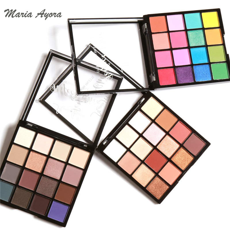 MARIA AYORA Perfect Chic Eyeshadow Palette 16 Colors Eye Make up Easy To Wear Glamorous Eye Shadow Shimmer Colors Makeup Kit by