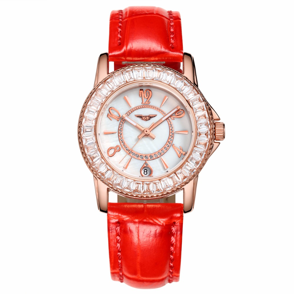 Hot Brand New Fashion Casual Watches women Men Luxury Brand GUANQIN Steel Waterproof Watch Relogio Feminino Clock Sports Watches женский жилет new brand 2015 colete feminino er0070