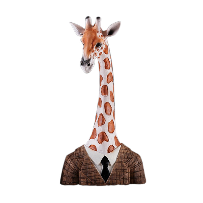 Magasin de vêtements vitrine affichage résine girafe décoration de la maison Art artisanat meubler meilleur cadeau jouet