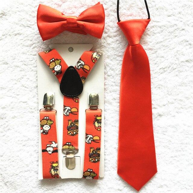 30510a7a20 Neue Design Kinder Jungen Mädchen Kleinkinder Fliege Krawatte Hosenträger  Bowtie Gesetzt Elastischen Einstellbar Schule Partei Kleidung