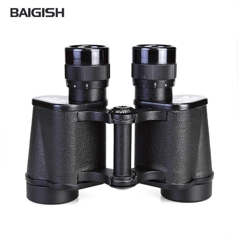 Baigish genuine 8x30 binocular band ranging reticle high powered binoculars For professional font b rangefinder b