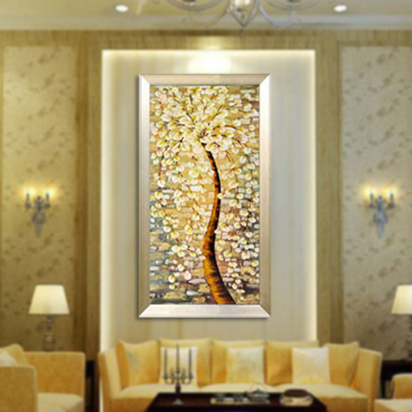 Modern classic Art Deco floral fabric painting decorative painting ...