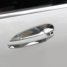 Car Styling Door Handle Frame Decoration Sticker Trim For Mercedes Benz C Class W204 2008 14 Exterior Door Bowl Sequins
