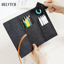 DELVTCH Portable Lightweight Felt Pen Pencil Bag Case Holder Storage Pouch School Student Stationery Supplies Gift недорого