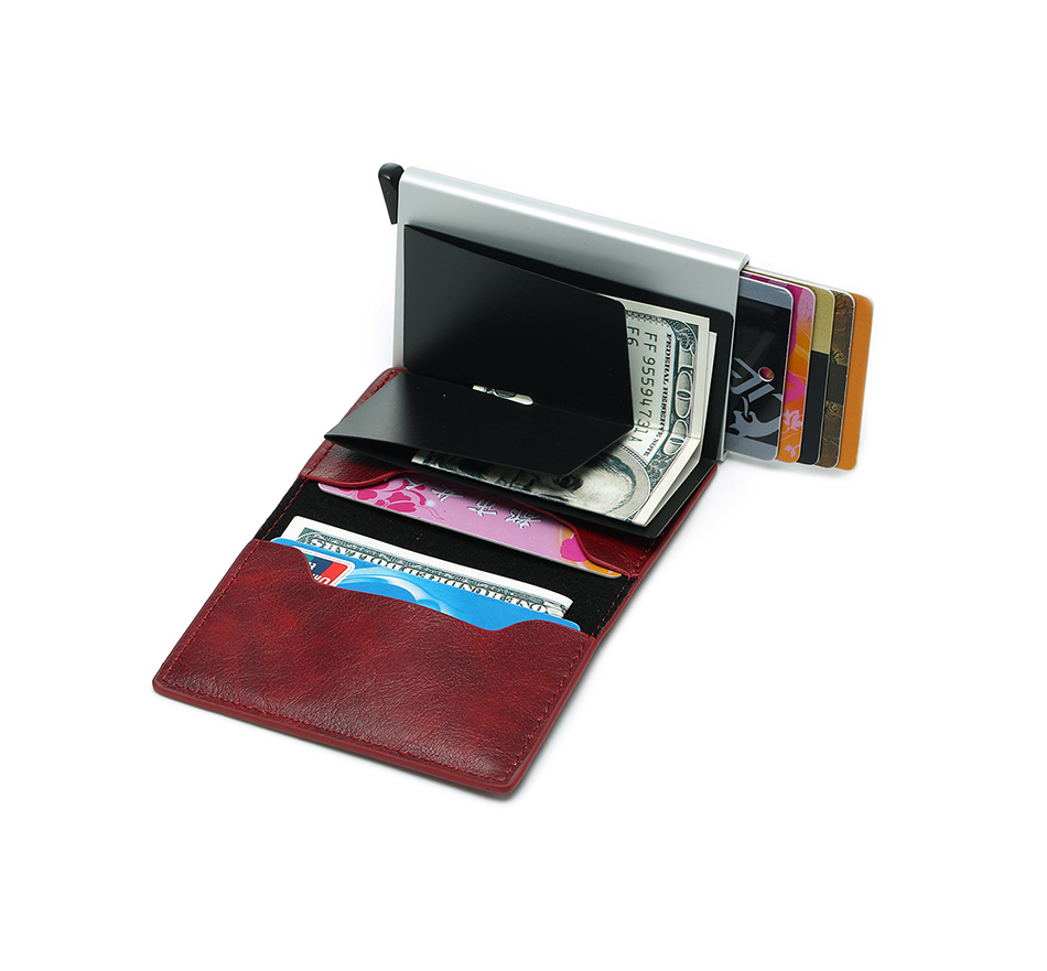 Mens Small Slim Leather Wallets Rfid Card Holder 60