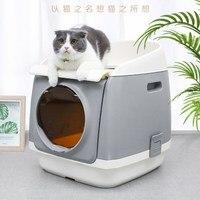 Кошачий ящик для мусора полностью закрытый кошачий Туалет mascotas кошачий Туалет Тренировочный Набор наполнитель для кошачьего туалета кошач