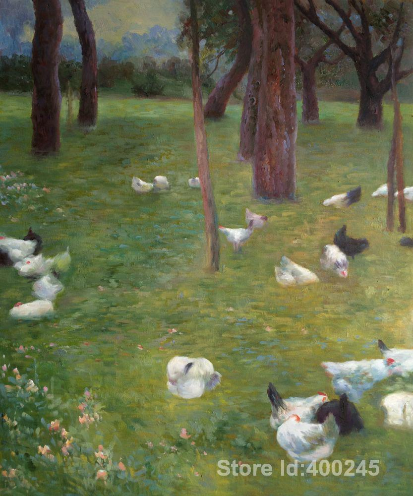 Living in the rain garden the living room is painted - Gustav Klimt Paintings Of After The Rain Garden With Chickens In St Agatha Modern Art High Quality Hand Painted