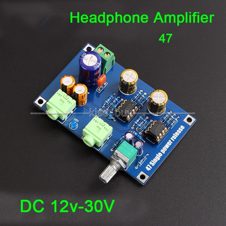 DC 12V 24V Single Supply 47 Audio Headphone Amplifier Board NE5532 OP AMP diy Kits