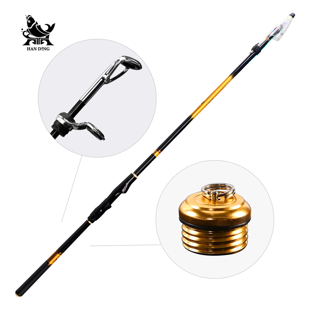 Handing pesca Rock Fishing Rod 3.6M-6.3M High carbon Super Hard Telescopic Fishing Rod Baitcasting Rod Sea Rod Medium Fast point break pq 4c wd high quality elastic rod cork handle portable rod strong sensitive sea rod fishing gear fast transport
