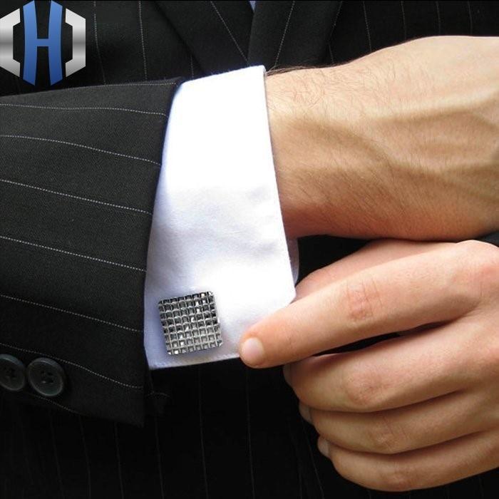 Titanium Cufflinks High-end Business Shirt Cufflinks Sleeve Nails French Lettering Simple Cufflinks недорго, оригинальная цена