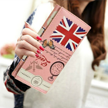 Fashion Korean Style Wallet New Women Lovely  Purse Print Leather Wallet Long Button Purse Card Holder Popular