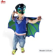 SPECIALE L35 * Dinosaurus groene vleugel cape + boven gezichtsmasker voor kinderfeest cosplay kostuum fancy dress up verjaardagscadeau