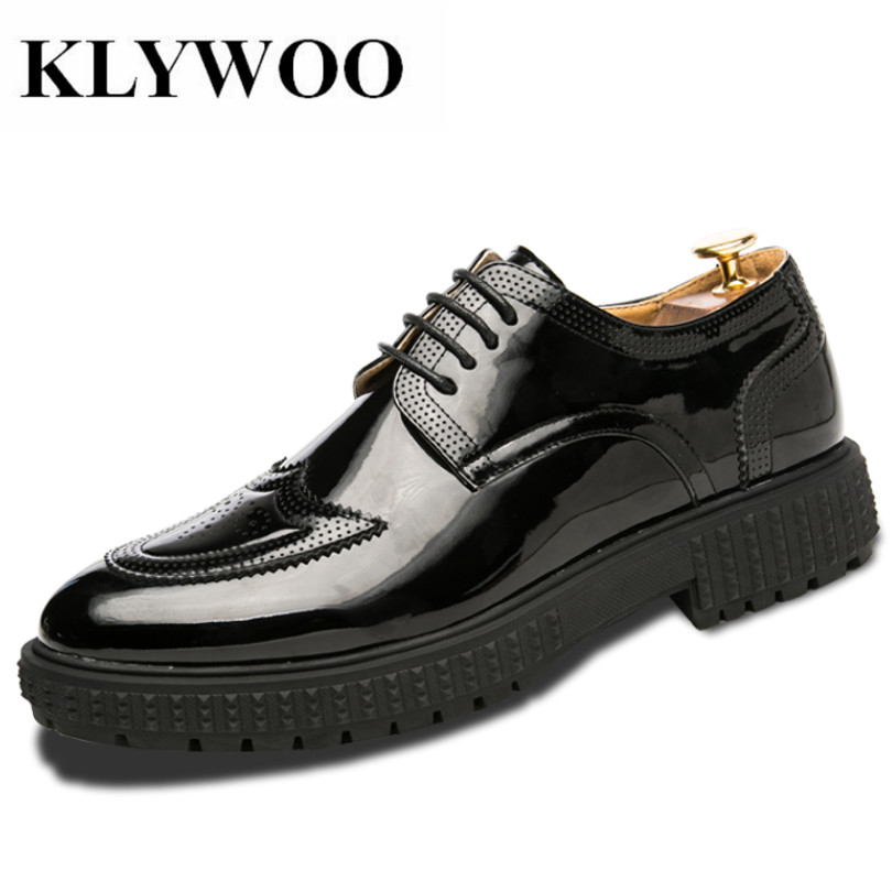 KLYWOO Brand Brogue Men Shoes Luxury Derby Leather Dress Shoes Mens Comfortable Business Antiskid Formal shoes Zapatillas Hombre 2016 luxury mens goodyear welted oxfords shoes vintage boss brogue shoes italian mens dress shoes elegant mens gents shoes derby