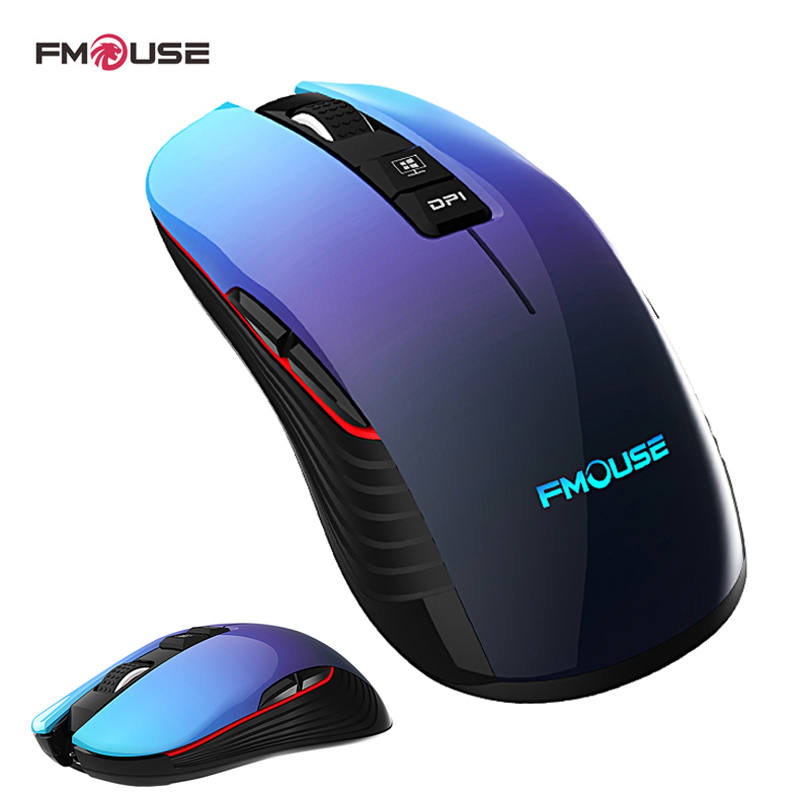 M600 pro Rechargeable Wireless Gaming Mouse Optical LED 2.4GHz Computer Mouse with USB Receiver Silent Click 4 DPI 8 Buttons image