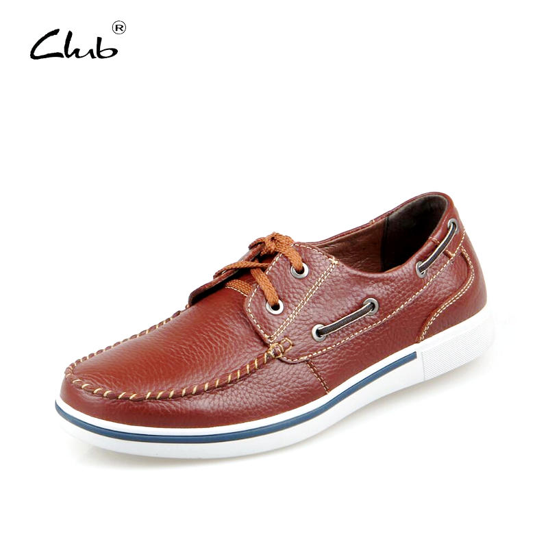 Club Genuine Leather Men Shoes Casual 2017 Autumn Handmade Designer Shoes Fashion Dress Shoes For Men oxfords sapatos masculinos