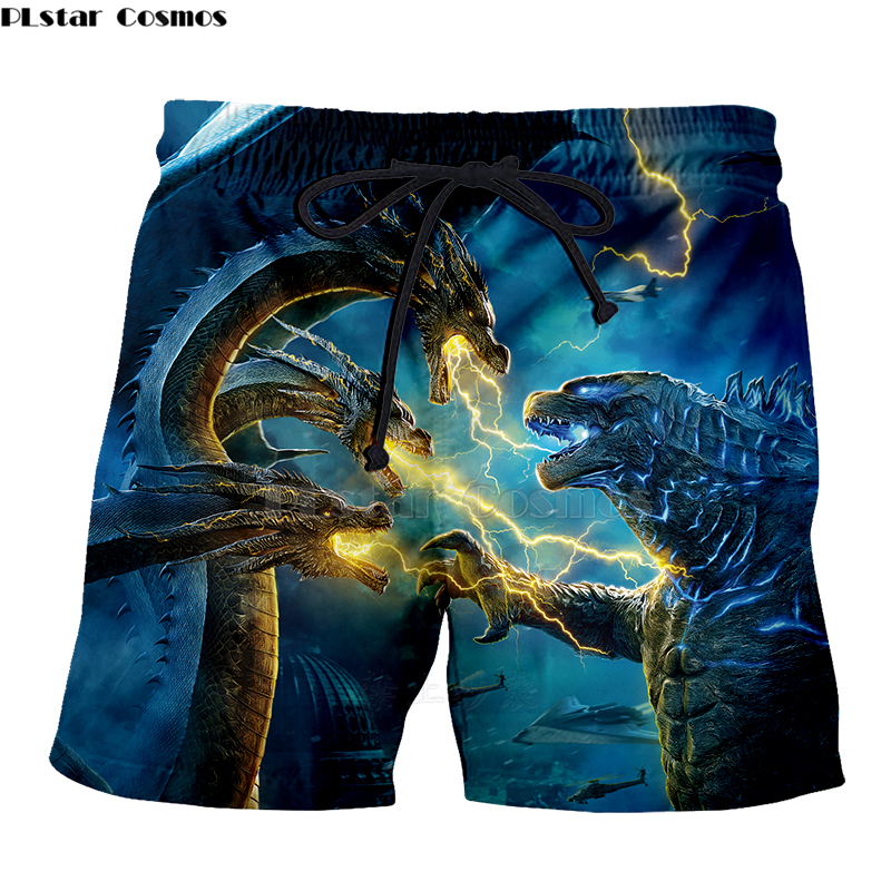 Godzilla New Fashion Men's Casual Shorts Summer Men Beach Shorts 3D Print Men's Boardshorts Trousers Hot Style Quick Dry -9